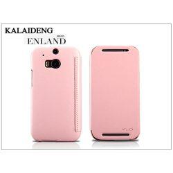 HTC One M8 flipes tok - Kalaideng Enland Series - pink