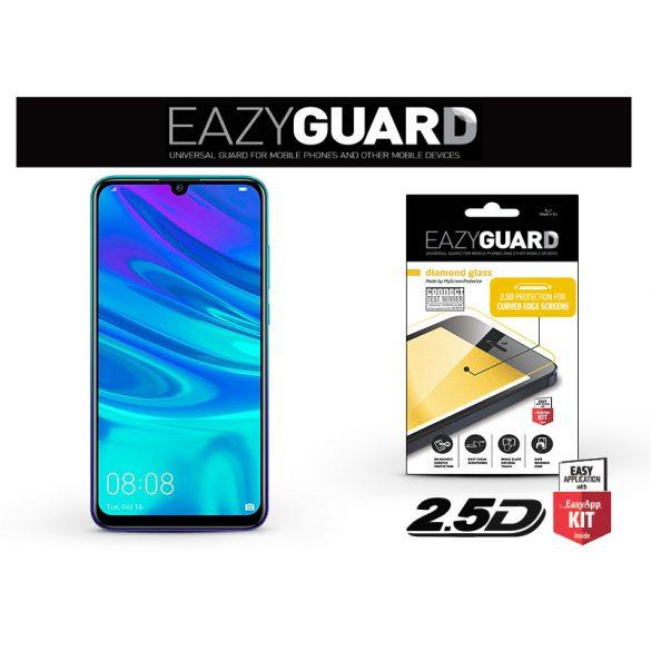Huawei P Smart (2019)/Honor 10 Lite gyémántüveg képernyővédő fólia - Diamond Glass 2.5D Fullcover - fekete