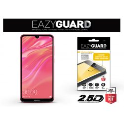 Huawei Y7 (2019)/Y7 Prime (2019) gyémántüveg képernyővédő fólia - Diamond Glass 2.5D Fullcover - fekete