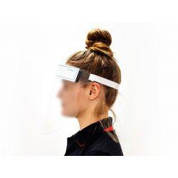 Higiéniai arcvédő plexi pajzs szivacsos homlokpánttal - FFS Garden Protector - átlátszó