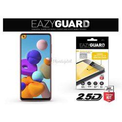 Samsung A217F Galaxy A21s gyémántüveg képernyővédő fólia - Diamond Glass 2.5D Fullcover - fekete