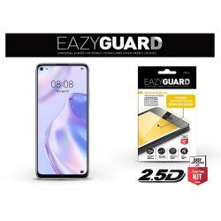 Huawei P40 Lite 5G gyémántüveg képernyővédő fólia - Diamond Glass 2.5D Fullcover - fekete