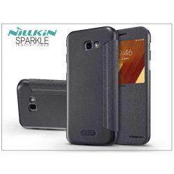 Samsung A720F Galaxy A7 (2017) oldalra nyíló flipes tok - Nillkin Sparkle - fekete