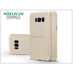 Samsung G955F Galaxy S8 Plus oldalra nyíló flipes tok - Nillkin Sparkle - gold