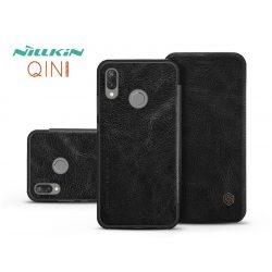 Huawei P20 Lite oldalra nyíló flipes tok - Nillkin Qin - fekete
