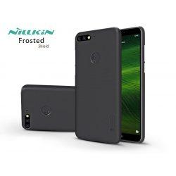Huawei Y7 (2018)/Huawei Y7 Prime (2018)/Honor 7C hátlap képernyővédő fóliával - Nillkin Frosted Shield - fekete