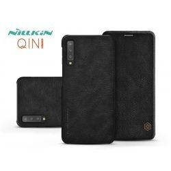 Samsung A750F Galaxy A7 (2018) oldalra nyíló flipes tok - Nillkin Qin - fekete