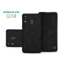 Samsung M205F Galaxy M20 oldalra nyíló flipes tok - Nillkin Qin - fekete