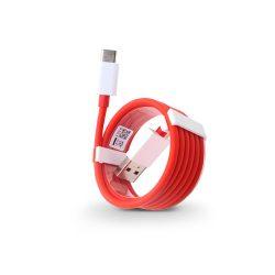 USB - USB Type-C gyári adat- és töltőkábel 100 cm-es vezetékkel - OnePlus Fast Charge D301 - red (ECO csomagolás)