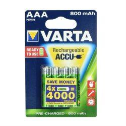 Az újratölthető akkumulátorok Varta R3 800 mAh (promo 3 + 1) kész 2 használatra