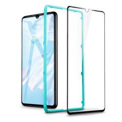 Edzett üveg tempered glass ESR teljes képernyős Huawei P30 fekete üvegfólia