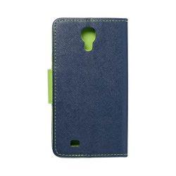 Fancy flipes tok SAMSUNG Galaxy S4 (I9500) sötétkék / lime telefontok