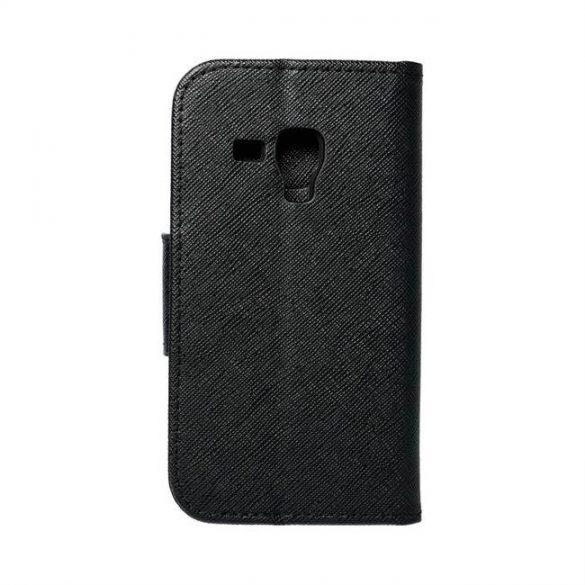Fancy flipes tok SAMSUNG Galaxy Trend (S7560) / Trend Plus (S7580) / Galaxy S Duos (S7562) fekete telefontok