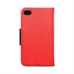 Fancy Book tok iPhone 4 / 4S piros / sötétkék telefontok