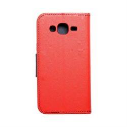 Fancy flipes tok SAMSUNG Galaxy J5 piros / sötétkék telefontok