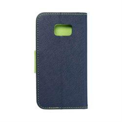 Fancy flipes tok SAMSUNG Galaxy S7 (G930) sötétkék / lime telefontok