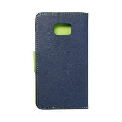Fancy flipes tok SAMSUNG Galaxy S7 Edge (G935) sötétkék / lime telefontok