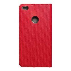 okos kihajtható tok HUAWEI P8 Lite 2017 / P9 lite 2017 piros telefontok