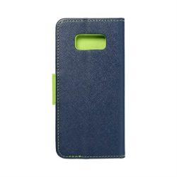 Fancy flipes tok SAMSUNG Galaxy S8 sötétkék / lime telefontok