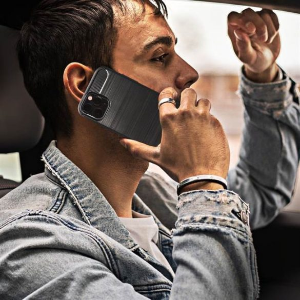 Forcell CARBON tok HUAWEI P8 LITE 2017 / P9 LITE 2017 fekete telefontok