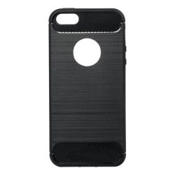 Forcell CARBON tok iPhone 5 / 5S / SE fekete telefontok