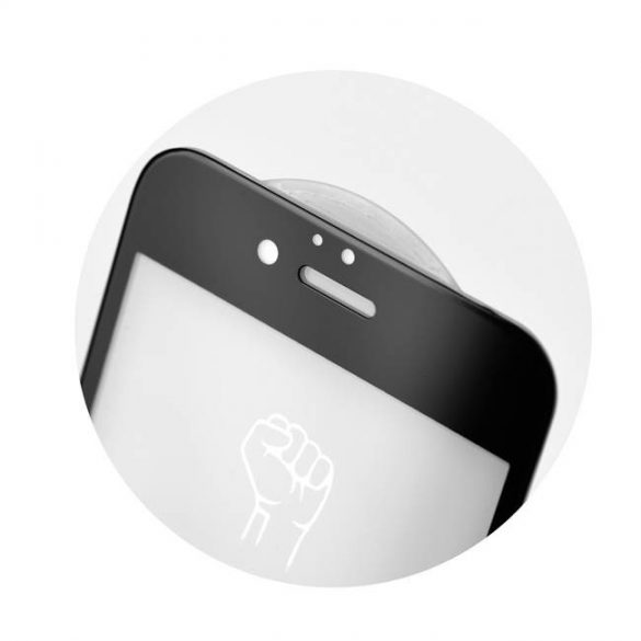 5D teljes felületen ragasztós Roar Glass - Huawei P30 fekete üvegfólia