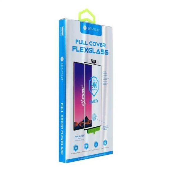 Teljes képernyős 5D Nano Glass - Huawei P30 (Hot hajlítás) fekete üvegfólia