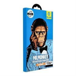 3D Mr. Monkey Glass - Samsung Galaxy Note 10 fekete (hot bending) üvegfólia