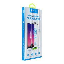Teljes képernyős 5D Nano Glass - Samsung Galaxy Note 10+ fekete (Hot hajlítás) - működő ujjlenyomatolvasó üvegfólia