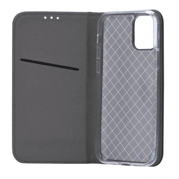 okos kihajtható tok LG Q60 fekete telefontok