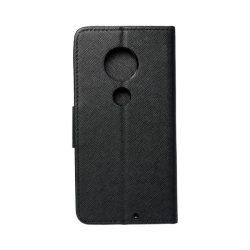 Fancy flipes tok LEN Moto G7 fekete telefontok