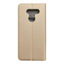 okos kihajtható tok LG K50S arany telefontok