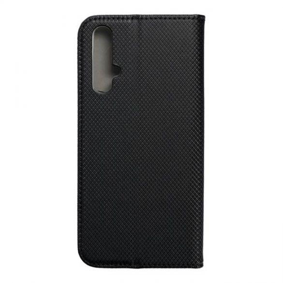 okos kihajtható tok HUAWEI Nova 5T fekete telefontok