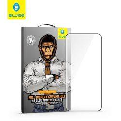 5D Mr. Monkey Glass - Samsung Galaxy S20 Plus fekete (Full AB ragasztó) + keret üvegfólia
