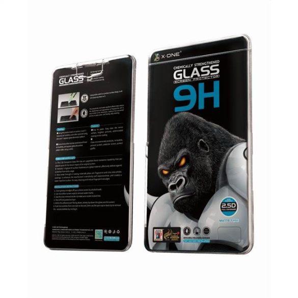 """X-ONE Teljes tok extra erős matt - iPhone 12/12 Pro 6,1"""" Edzett üveg tempered glass 9H üvegfólia"""