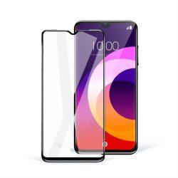 5D teljes felületen ragasztós üvegkerámia - Samsung Galaxy A21s fekete üvegfólia