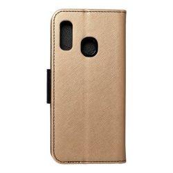 Fancy flipes tok Samsung Galaxy A20e arany / fekete telefontok