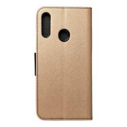 Fancy flipes tok Samsung Galaxy A20s arany / fekete telefontok