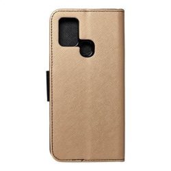 Fancy flipes tok Samsung Galaxy A21s arany / fekete telefontok