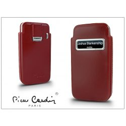 Pierre Cardin valódi bőrtok - Apple iPhone 4/4S - Type-3 - piros