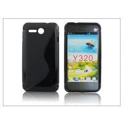 Huawei Ascend Y320 szilikon hátlap - S-Line - fekete