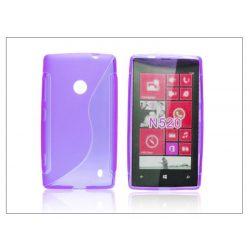 Nokia Lumia 520/525 szilikon hátlap - S-Line - lila