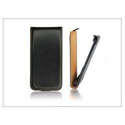 Slim Flip bőrtok - Samsung SM-G900 Galaxy S5 - fekete
