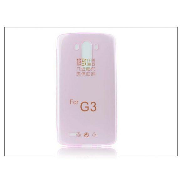 LG G3 D855 szilikon hátlap - Ultra Slim 0,3 mm - pink