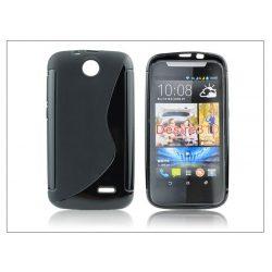 HTC Desire 310 szilikon hátlap - S-Line - fekete