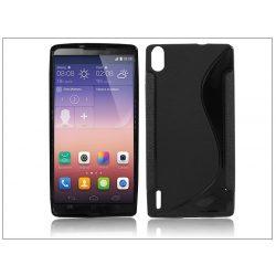 Huawei Ascend P7 szilikon hátlap - S-Line - fekete
