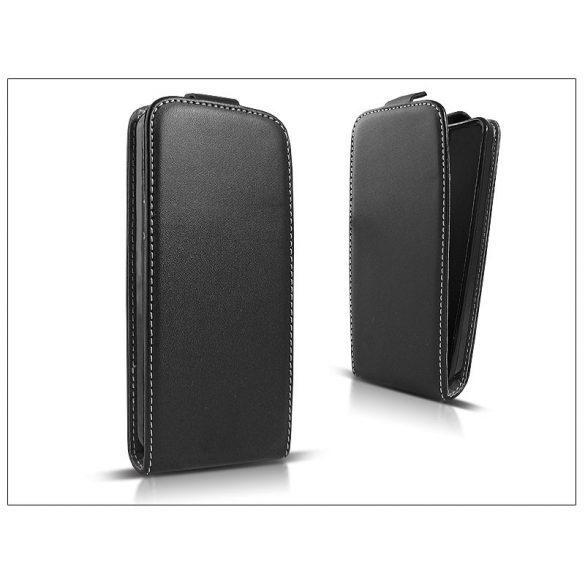 Slim Flexi Flip bőrtok - Microsoft Lumia 430 - fekete