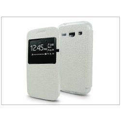 Samsung G3500 Galaxy Core Plus S-View Flexi oldalra nyíló flipes tok - fehér