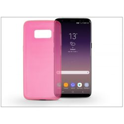 Samsung G955F Galaxy S8 Plus szilikon hátlap - Ultra Slim 0,3 mm - pink