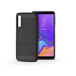 Samsung A750F Galaxy A7 (2018) szilikon hátlap - Carbon - fekete